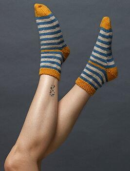 160-22 sokker med striper