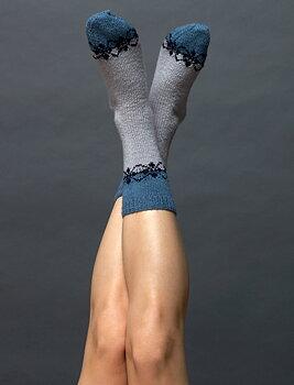 160-23 sokker med mønster