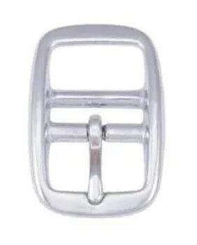 Dobbelstangspenne Sølvfarget Messing - 20mm